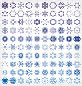 Set of winter snowflake icons — Stock Vector
