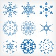 Set of isolated snowflakes for Christmas decor — Stock Vector