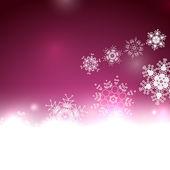 Purple Christmas lights and snowflakes — Stock Vector