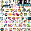 Huge modern circle infographic design template set — Stock Vector #36321221