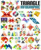 Huge geometric shape infographic template set — Stock Vector
