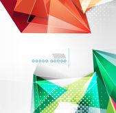 Fundo de forma geométrica triângulo vector — Vetorial Stock