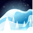 Blue snow winter Christmas glossy design — 图库矢量图片