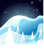 Blue snow winter Christmas glossy design — Stock Vector