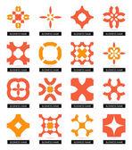 平面几何的商业符号。图标集 — 图库矢量图片