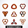 Abstract geometric business symbols. Icon set — Stock Vector #37375121
