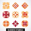 Abstract geometric business symbols. Icon set — Stock Vector #37375123