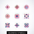 Stock Vector: Modern abstract geometric business icons. Icon set