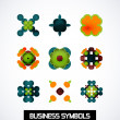 Colorful geometric business symbols. Icon set — Stock Vector