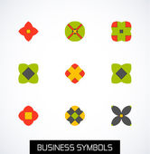 Modern abstract geometric business icons. Icon set — Cтоковый вектор