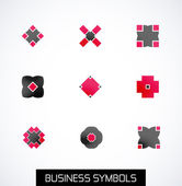 Modern abstract geometric business icons. Icon set — Stock Vector