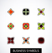 Modern abstract geometric business icons. Icon set — Stock vektor