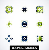 Colorful geometric business symbols. Icon set — Vettoriale Stock