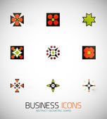 Modern abstract geometric business icons. Icon set — Vector de stock