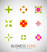 Modern abstract geometric business icons. Icon set — Stockvektor