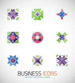 Modern abstract geometric business icons. Icon set — 图库矢量图片