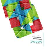 Kleurrijke realistische geometrische vorm ontwerpsjabloon — Stockvector
