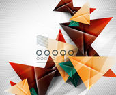 Geometric shape abstract triangle background — Vettoriale Stock