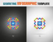 Moderne geometrische ontwerpsjabloon — Stockvector