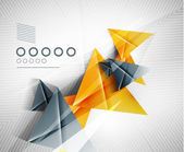 Geometric shape abstract triangle background — Vetorial Stock