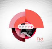 Circle geometric shapes flat interface design — Stock Vector