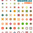 Set of colorful editable business symbols — Stock Vector