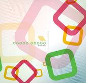 Kleurrijke vierkant geometrische vorm plat ontwerp — Stockvector