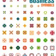 Set of colorful editable business symbols — Stock Vector #38452735