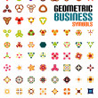 Set of colorful editable business symbols — Stock Vector #38452759