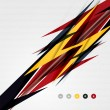 Colorful abstract technology lightning shapes — Vector de stock #38687051