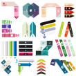 Set of stripes infographic design templates — Stock Vector