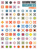 Huge set of business symbols - geometric shapes — Stock Vector