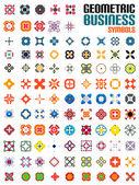 Huge set of business symbols - geometric shapes — Stock Vector