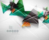 Geometrik şekil soyut üçgen arka plan — Stok Vektör