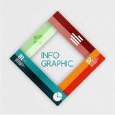 カラフルなリボン インフォ グラフィック - オプションのバナー — ストックベクタ