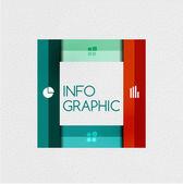 Bunte Multifunktionsleiste Infographik - Option Banner — Stockvektor