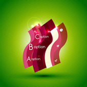 Colorful bright light shiny option banner — 图库矢量图片