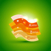 Colorful bright light shiny option banner — Vettoriale Stock