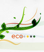 Green eco nature minimal floral concept — Stock Vector