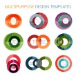 Stock Vector: Collection of circle shaped multipurpose templates
