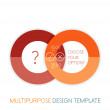 Stock Vector: Paper geometric shape multipurpose design template