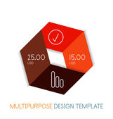 Paper geometric shape multipurpose design template — Stock Vector