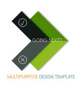 Paper geometric shape multipurpose design template — Stock Vector