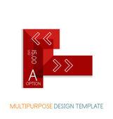 Transparent geometric shaped infographic templates — ストックベクタ