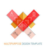 Transparent geometric shaped infographic templates — Stock Vector