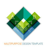 Transparent geometric shaped infographic templates — Stok Vektör