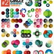 Huge set of circle infographic templates #2 — Stock Vector