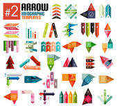 Huge set of arrow infographic templates #2 — Stock Vector