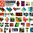 Huge set of square infographic templates #2 — Stock Vector #39610581