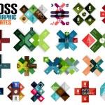 Huge set of cross infographic templates #2 — Stock Vector #39610617